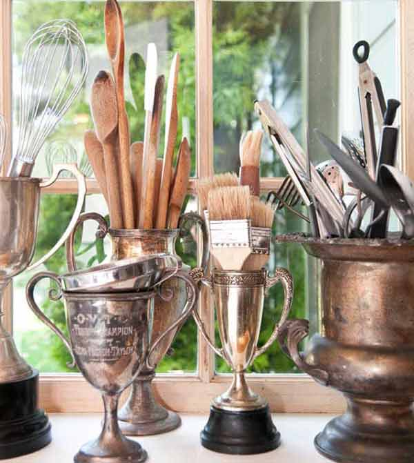Store Utensils In Vintage Trophies