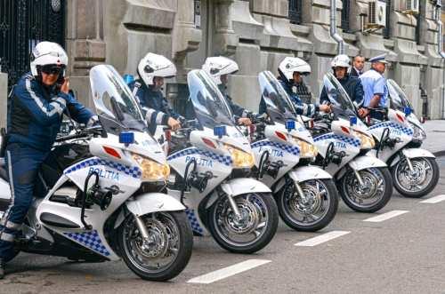 Cele cinci motociclete Honda St 1300 ale Politiei Romane