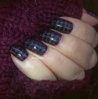 DRK A and SV by Sparkly Vernis Blurple Ice Cubes