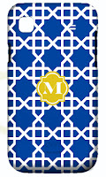 Moroccan Fretwork Personalized iPhone Cover with Initial