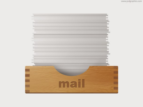 Inbox and Outbox Icon PSD