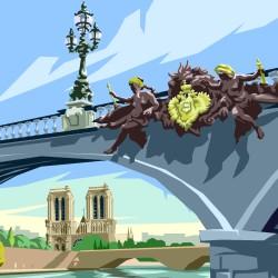 pont de Paris - dessin