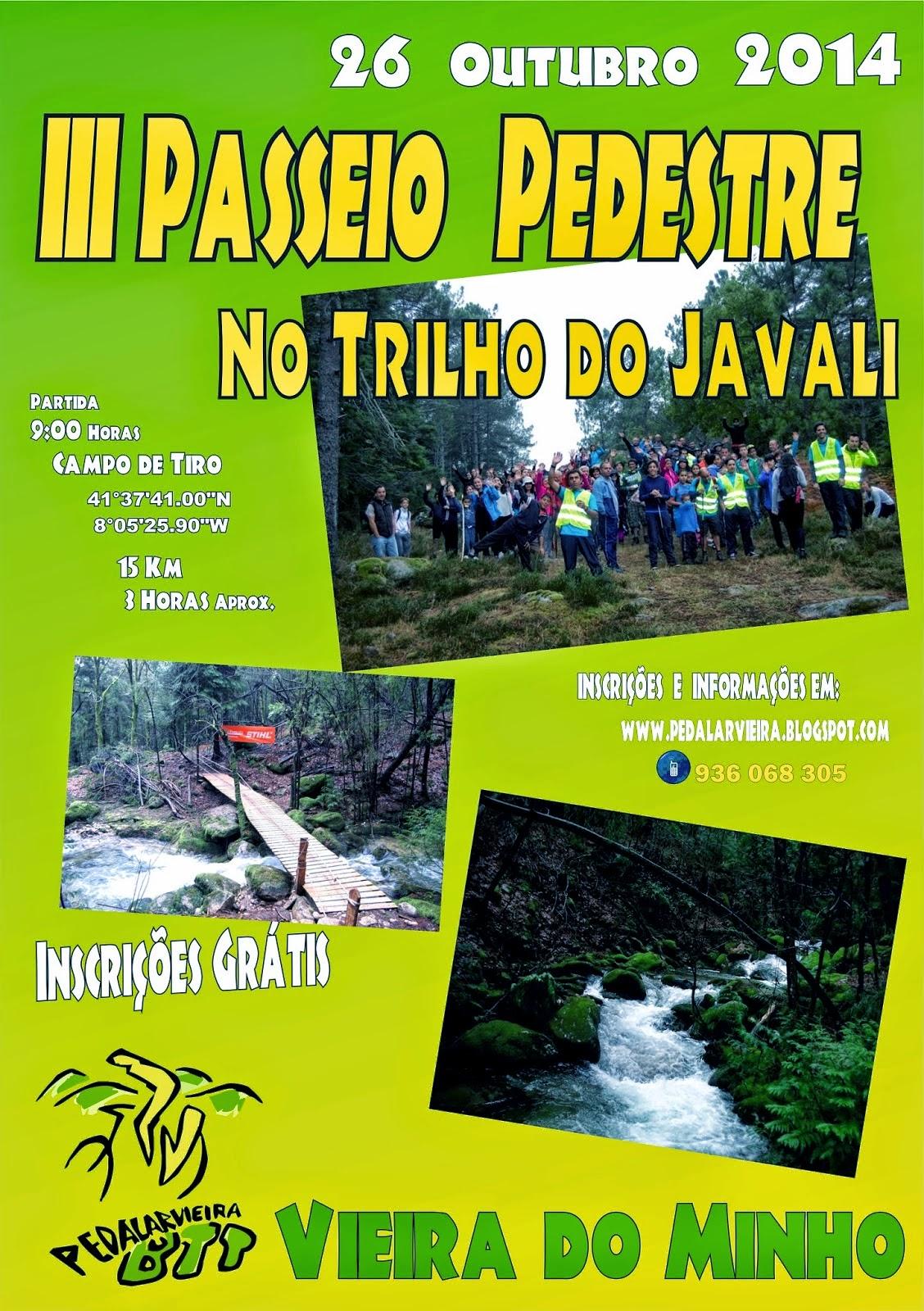 III PASSEIO PEDESTRE NO TRILHO DO JAVALI