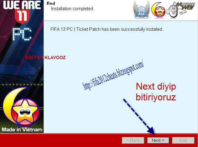 Ticket патч fifa08.