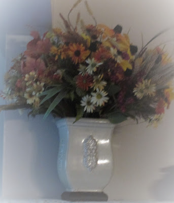 Flower bouquet in a vase- Vickie's Kitchen and Garden