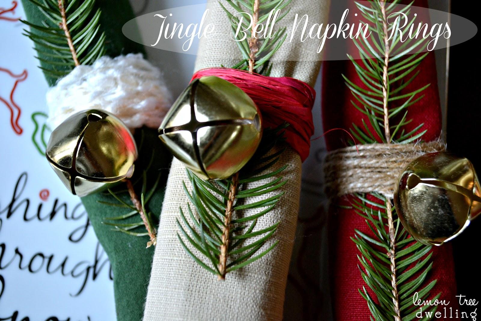 Lemon Tree Dwelling Jingle Bell Napkin Rings
