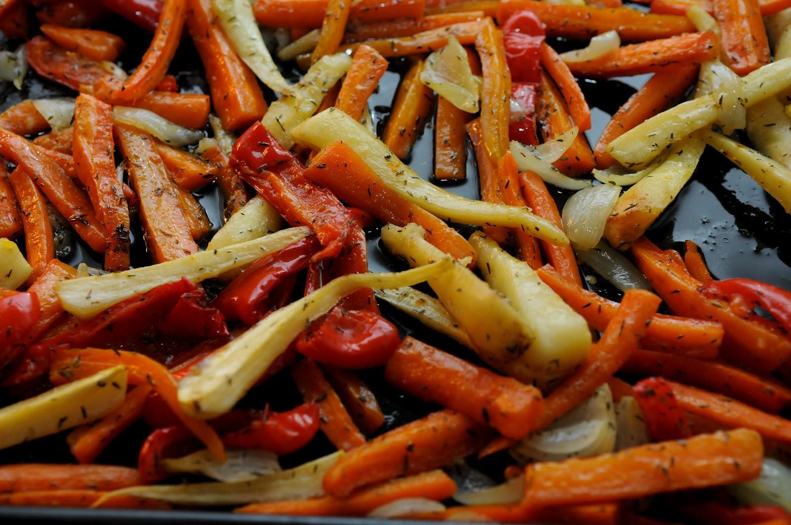 rostade grönsaker i ugn