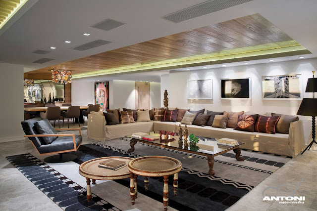 Picture of large modern living room