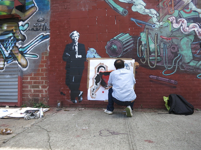 French Stencil Artist Blek Le Rat New Street Piece In Brooklyn, New York City. 4