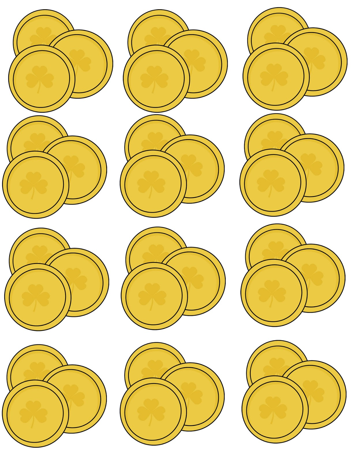 Agile image with regard to gold coin template printable