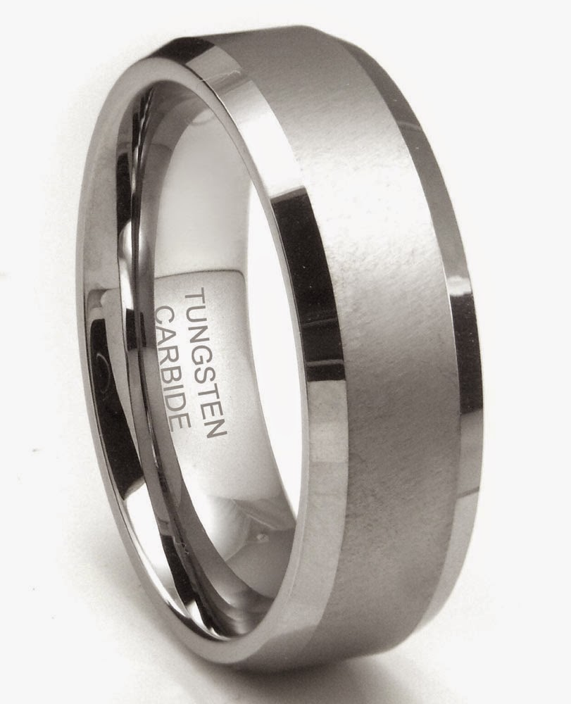 Mens Silver Wedding Bands Tungsten Carbide pictures hd