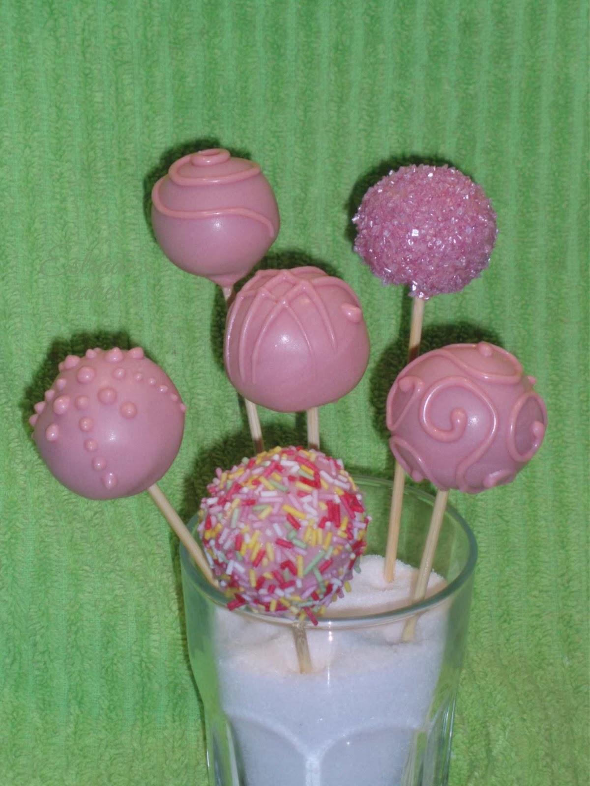cake pops rosas