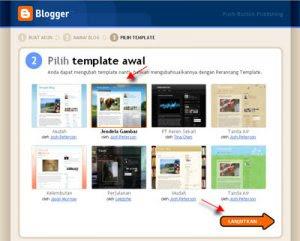 pilih tampilan blog