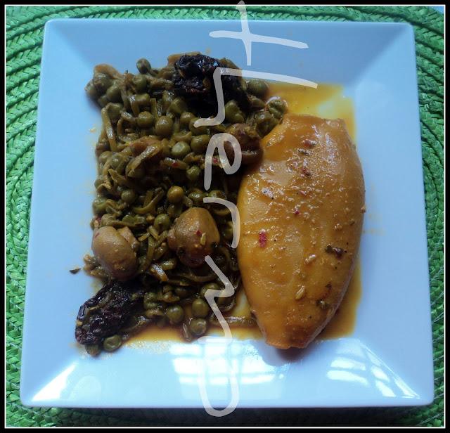 Calamares con verduras en fc receta casera