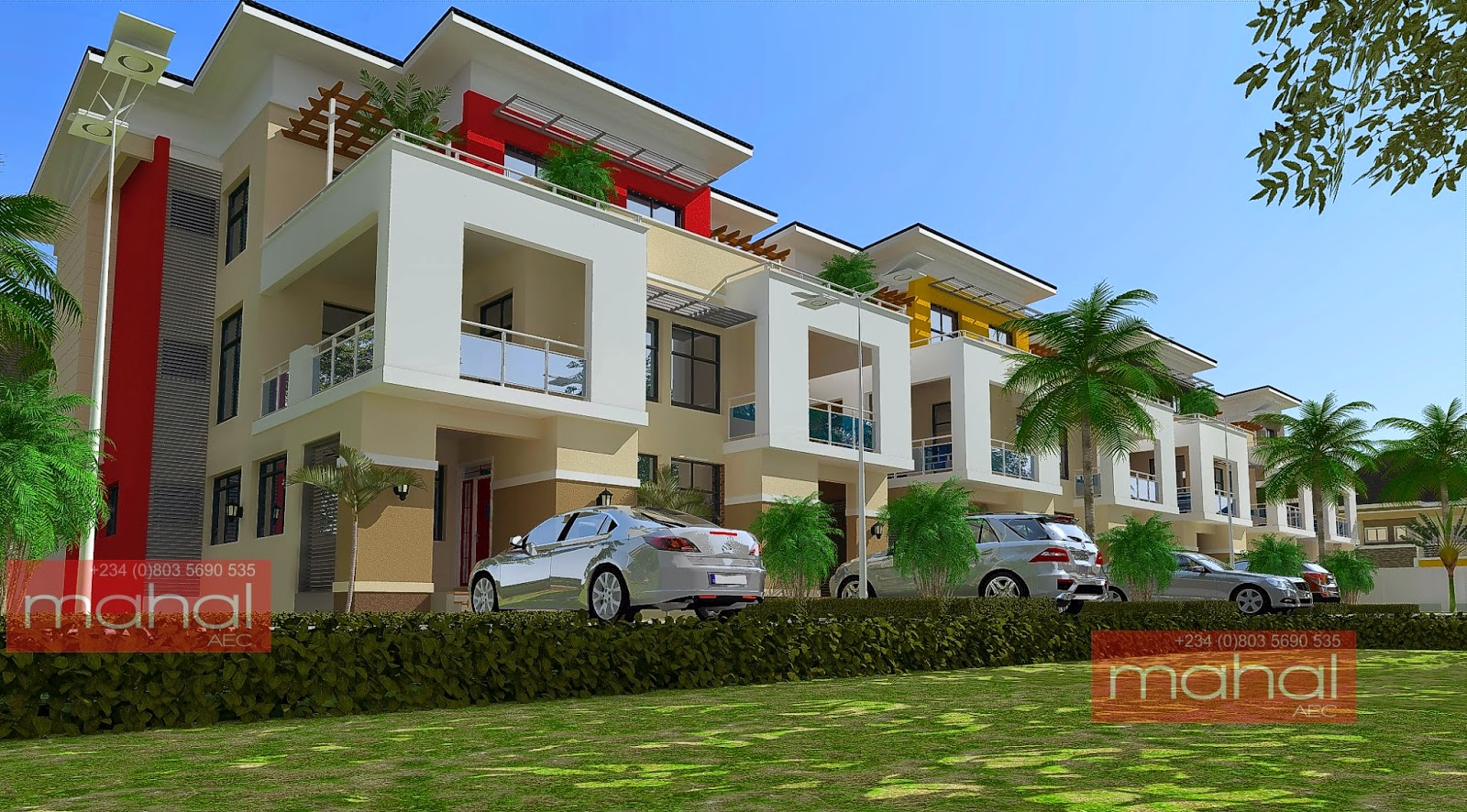 Contemporary nigerian residential architecture august 2014 for Apartment plans in nigeria