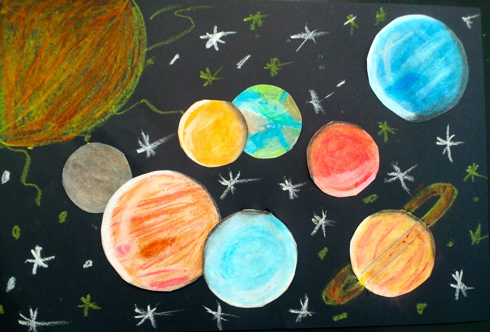 solar system wall painting pinterest - photo #17