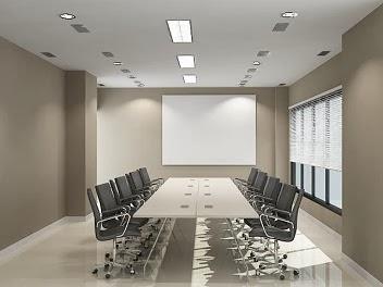 jasa desain interior ruang rapat minimalis nuansa kalem