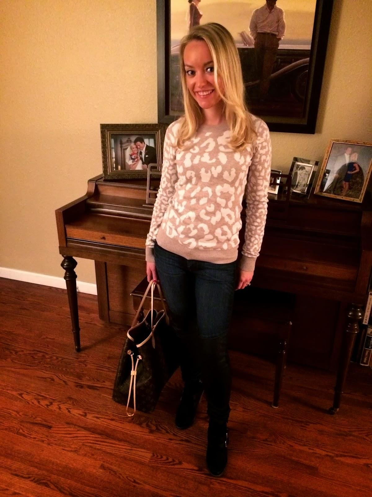 express leopard sweater