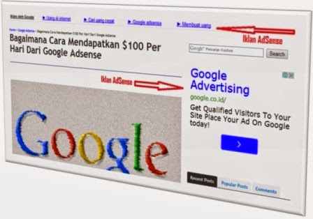 contoh iklan adsense