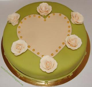 Tårta med plats för brudpar