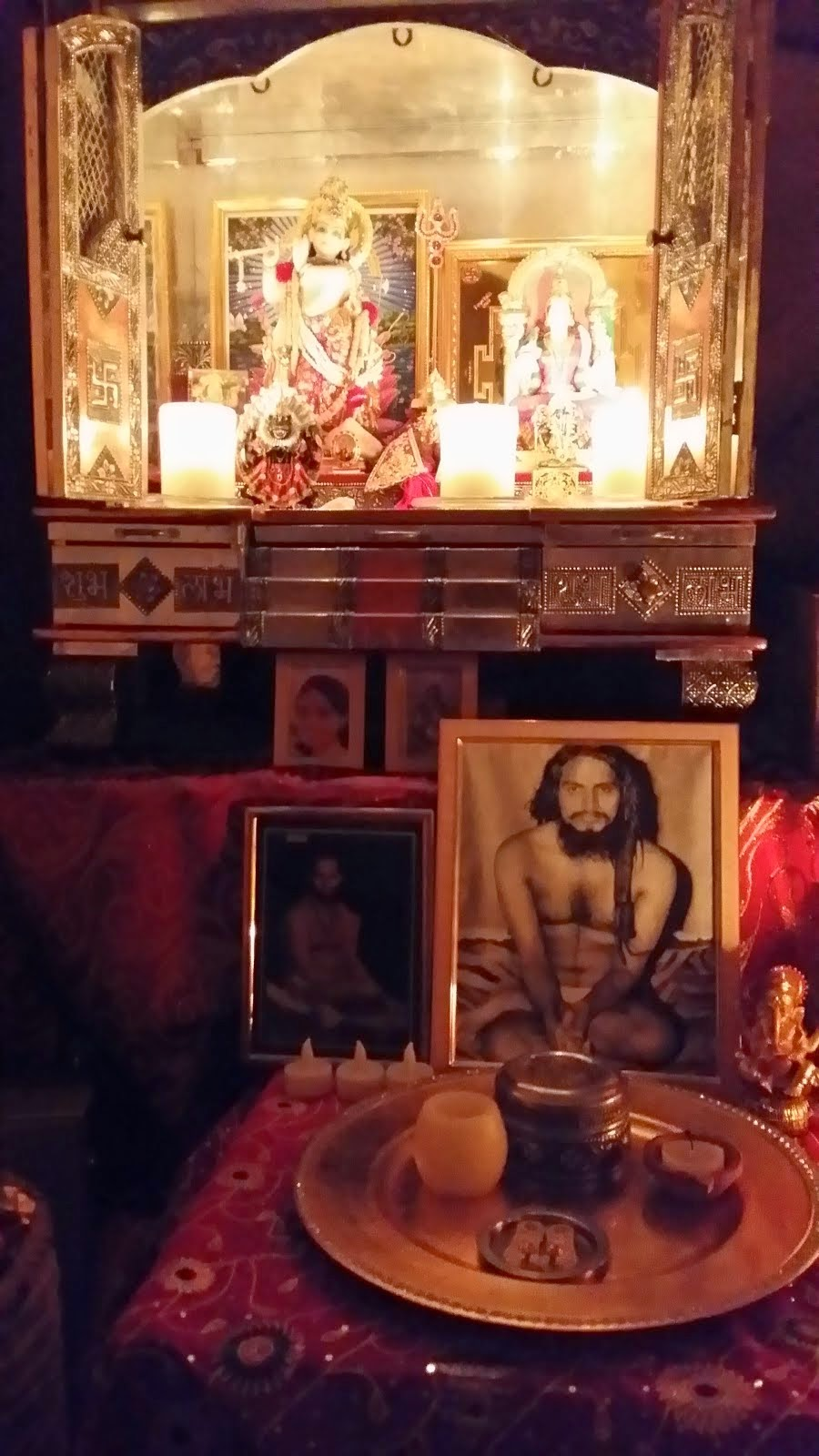 Blazing Murtis in Puja room