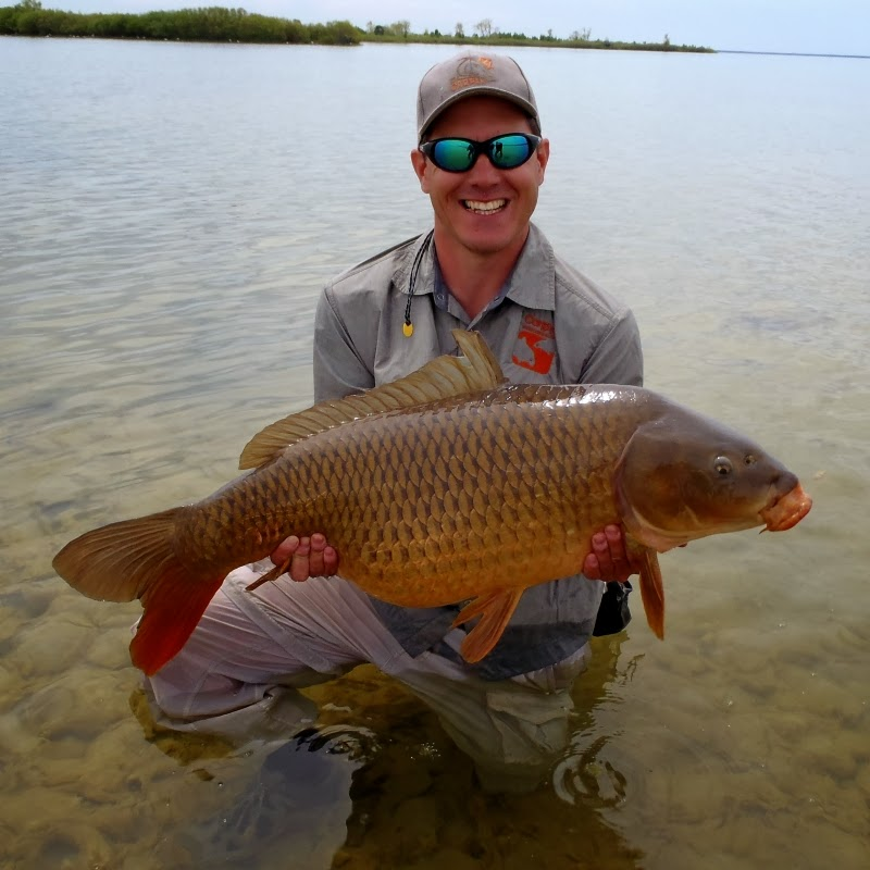 Fly Fishing For Carp - 34.5lb Common Carp on the fly