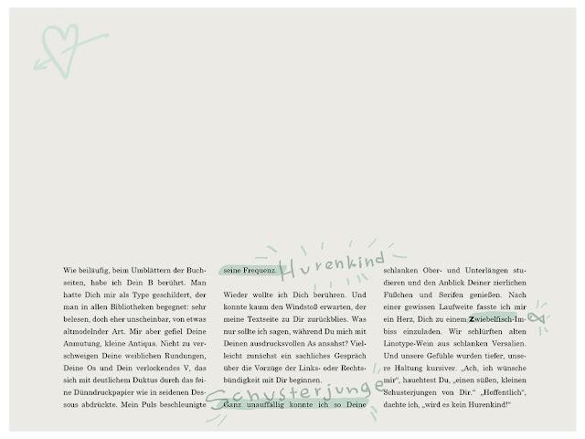 Blindtext mit typographischen Hinweisen