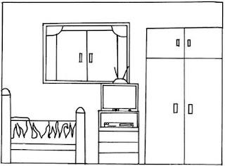 A Desenhar decoração quartos colorir