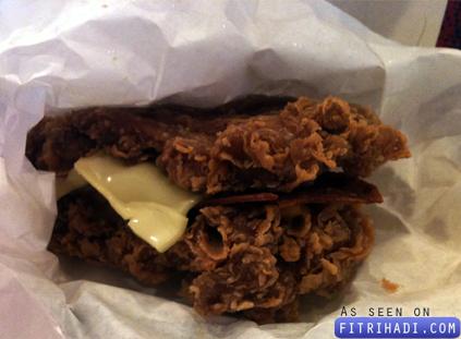 harga berger kfc zinger double down burger