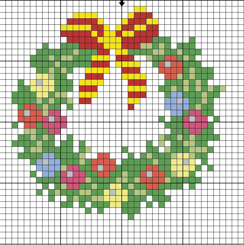 Маленькая вышивка крестом на рождество