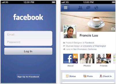 for iphone screenshots facebook for ipad facebook for pocket pc