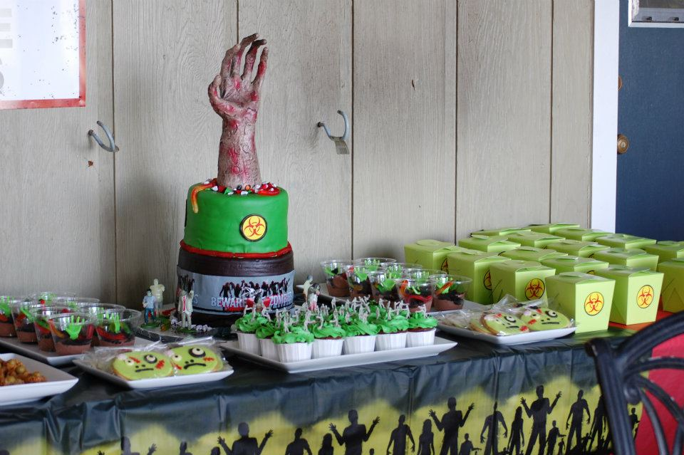 Birthday Party Zombie Image Inspiration of Cake and Birthday