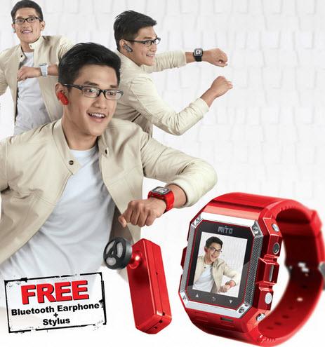 Harga dan spesifikasi Mito S500 jam tangan ponsel murah - www.teknologiz.com