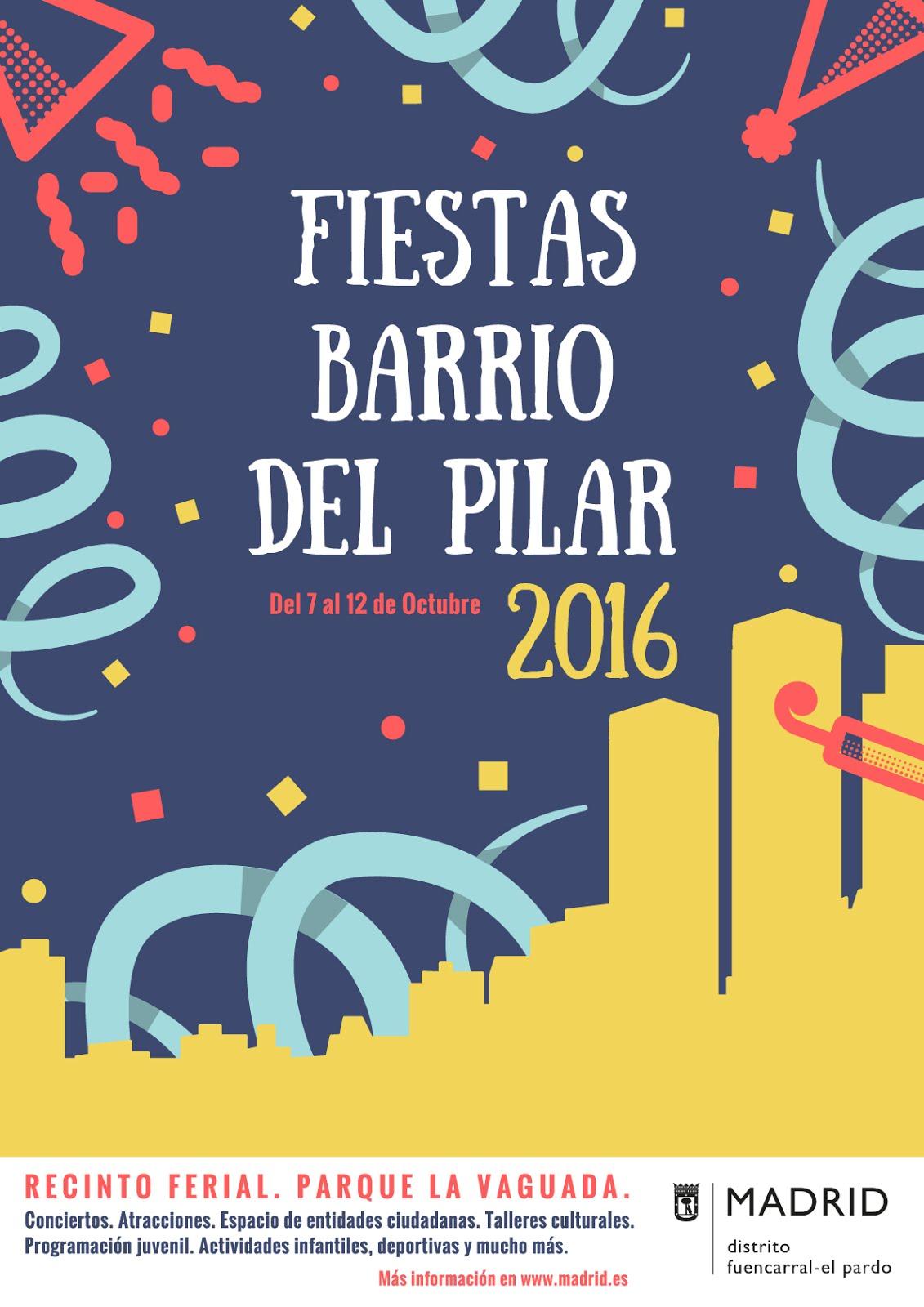 7 al 12 de octubre Fiestas Barrio del Pilar