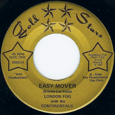 Re up - London Fog with the Continentals - Easy Mover/ Trippin 1969 (Gold Star)