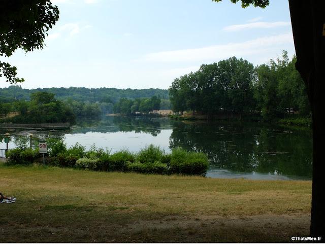 ile base de loisirs Cergy pontoise accrobranche etang lac pique-nique activité plein-air outdoor evjf
