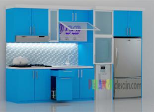 Kitchenset Pelangi Desain Interior Kitchen Set Warna Biru Laut