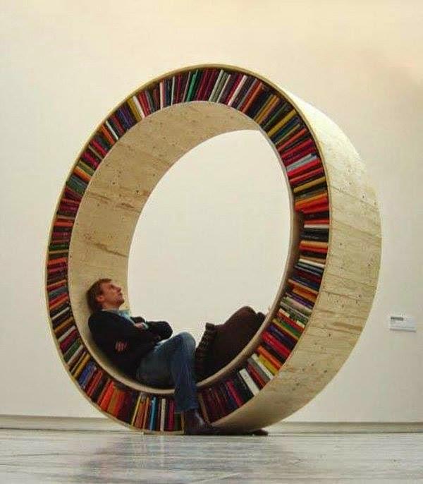 librero diseño circular