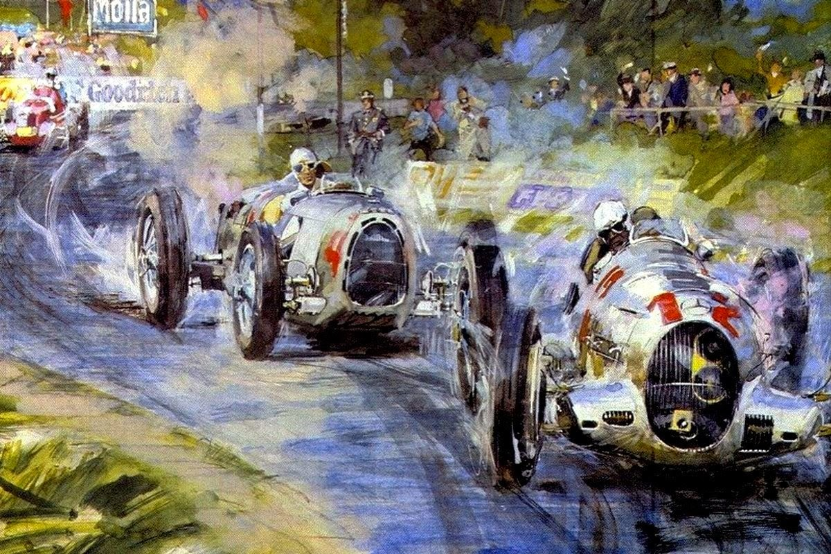 Art Contrarian Walter Gotschke Automobile Impressionist