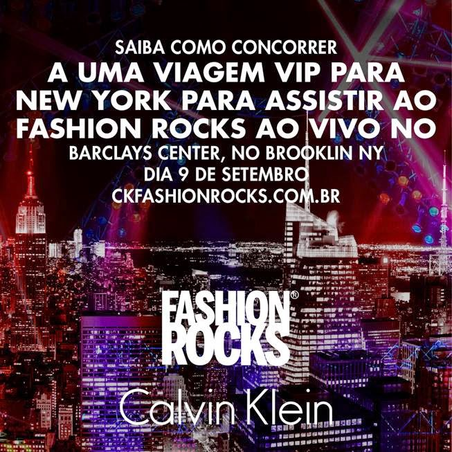 "Promoção Calvin Klein Brasil - ""#CKFASHIONROCKS"""