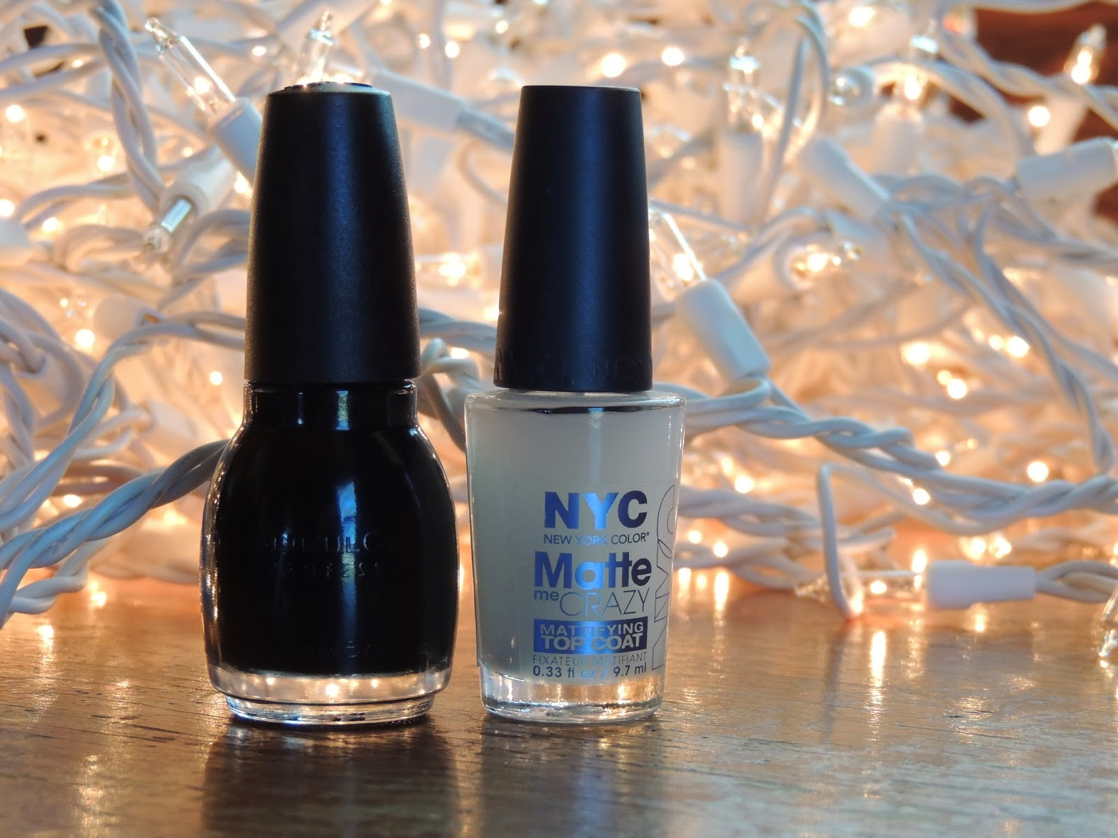 Brittany\'s Secret: Black Latex Inspired Nails using NYC Matte me ...