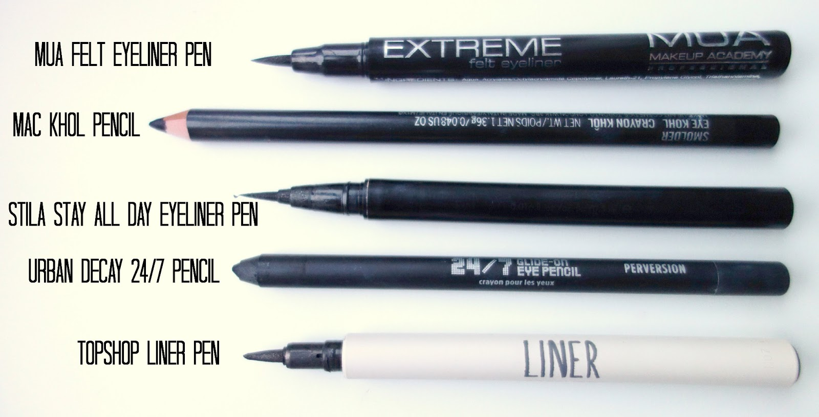 the makeup series: my favourite eyeliners - The Lovecats Inc