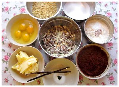 Brownie-Zutaten