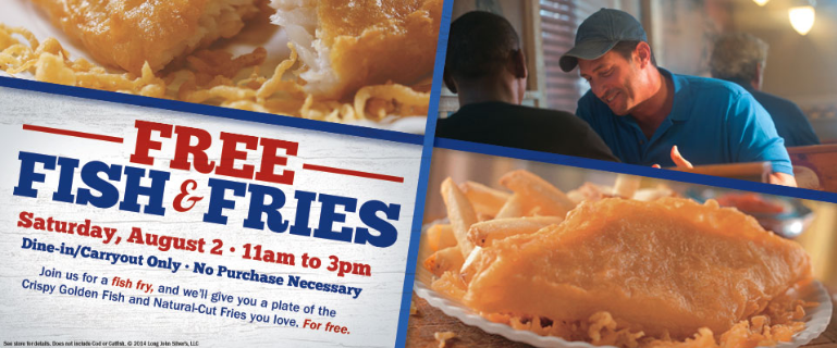 French fry diary free fish and fries for Long john silver fish and chips