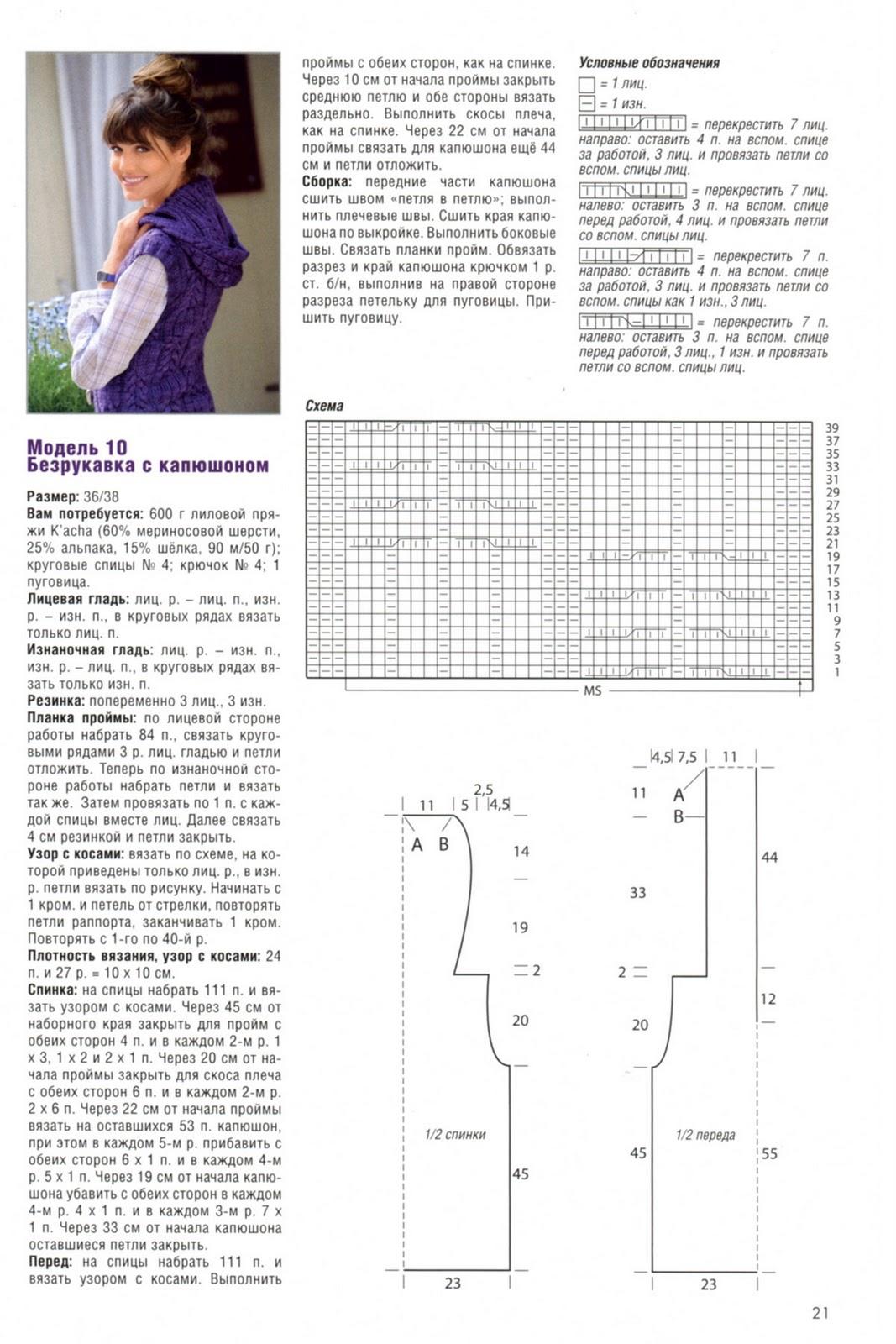 Вязание безрукавок спицами для женщин схемы