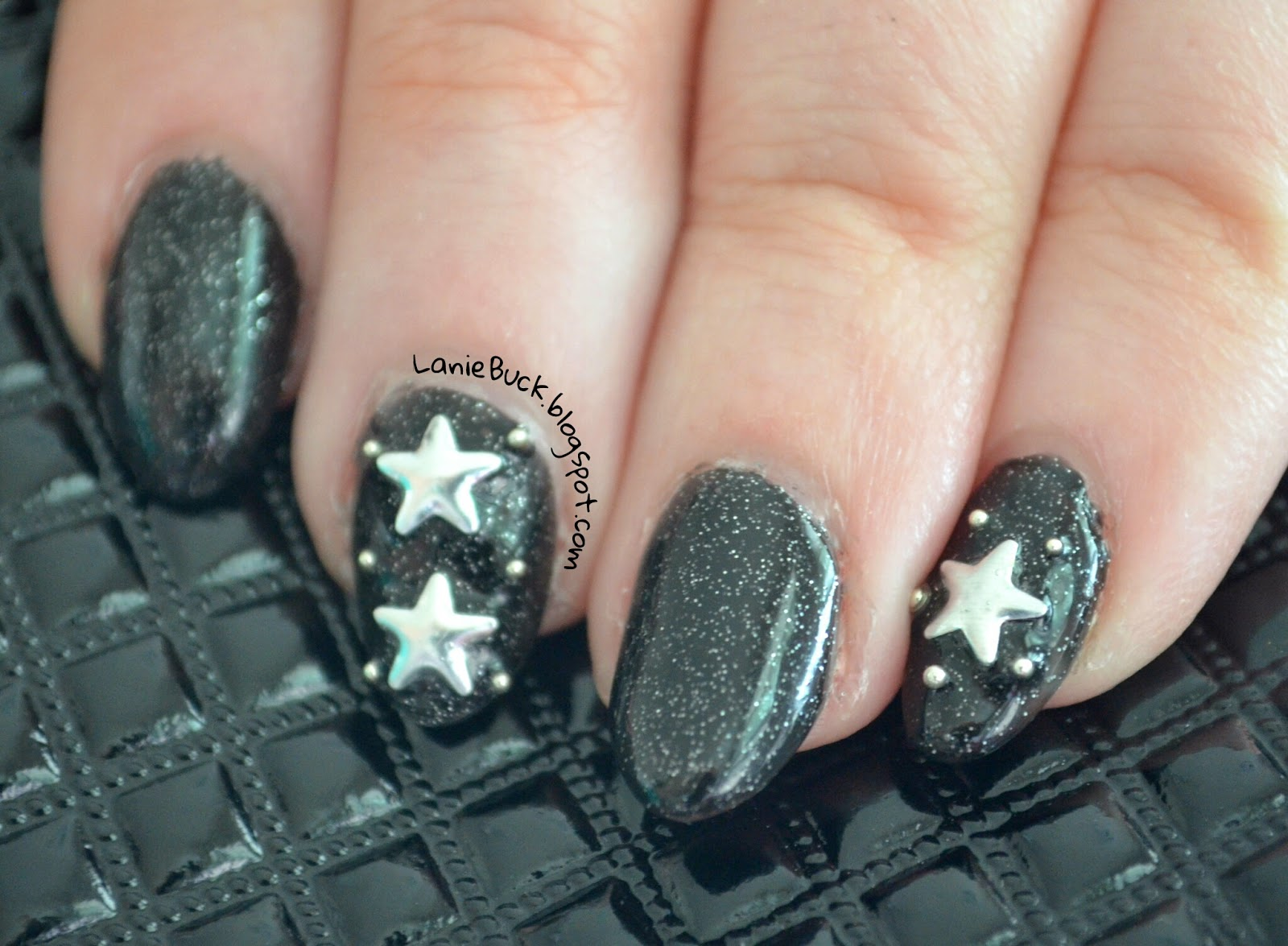 DIY Manicure- Star Studded Night Sky Nails with Video