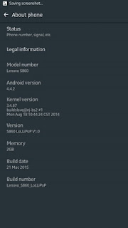 Android 4.4.2 AOSP for Lenovo S860 with Android Lollipop UI