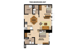 Avida Towers Vita Two Bedroom Unit Plan
