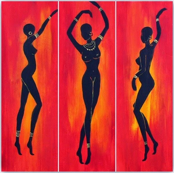 Cuadros Figuras Africanas Mujeres | Bodegones y Paisajes Cuadros ...