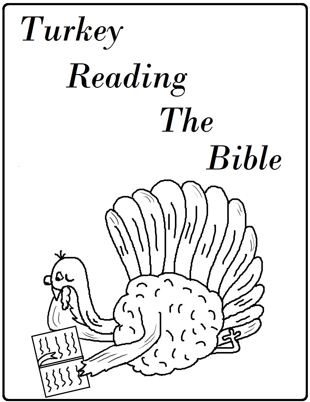 thanksgiving coloring pages printable bible - photo#7